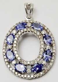 beautiful tenzanite gemstone pendant