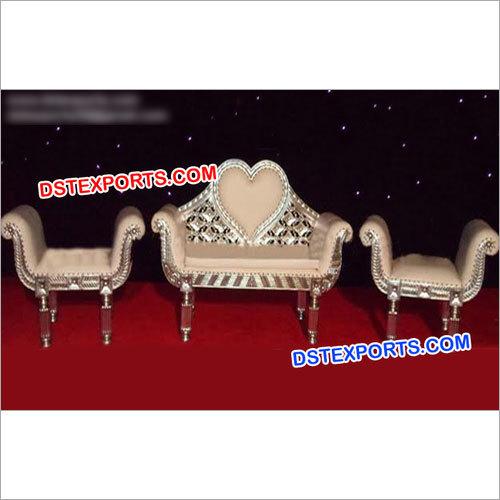 Heart Shape Designer Carved Sofa Set