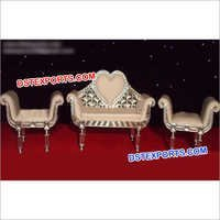Heart Shape Designer Carved Sofa Set