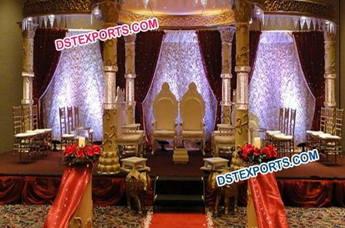 Latest Royal  Fiber Crystal Mandap