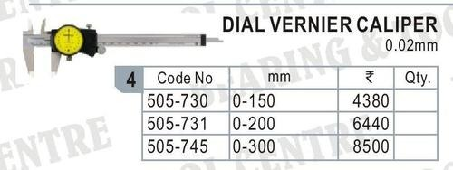 Dial Vernier Caliper Least Count 0.01 MM