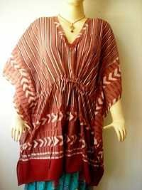 BAGRU PRINT COTTON KAFTAN