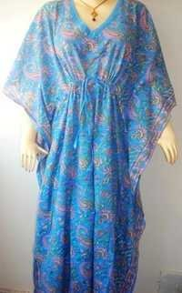 LONG PAISLEY KAFTAN