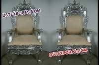 Latest Wedding Antique Silver Chair Set