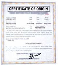 Certificate Of Origin And Legalization