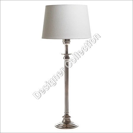 Antique Silver Base Lamp