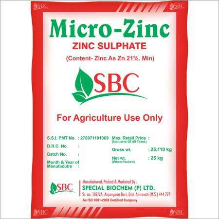 Zinc Sulphate Fertilizer
