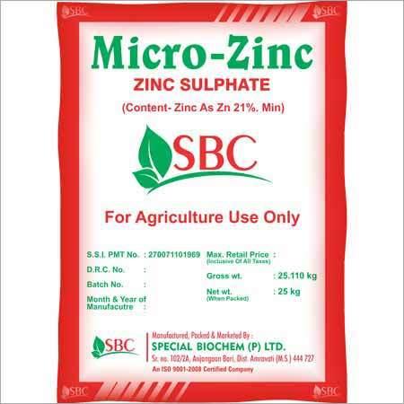 Zinc Sulphate Fertilizer