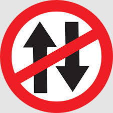 Vehicle Prohibited in Both Direction