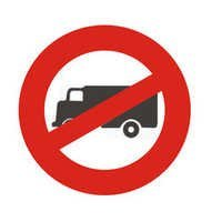 Trucks Prohibited Signs