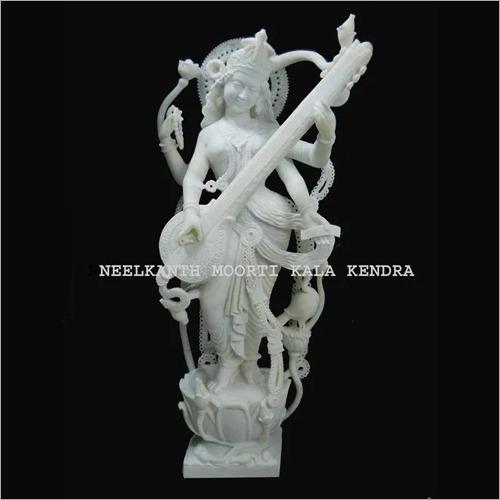 Marble Standing Saraswati Statue