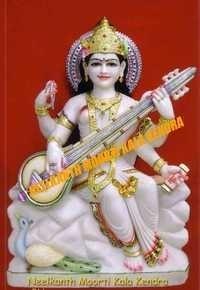 White Marble Saraswati Devi Statue