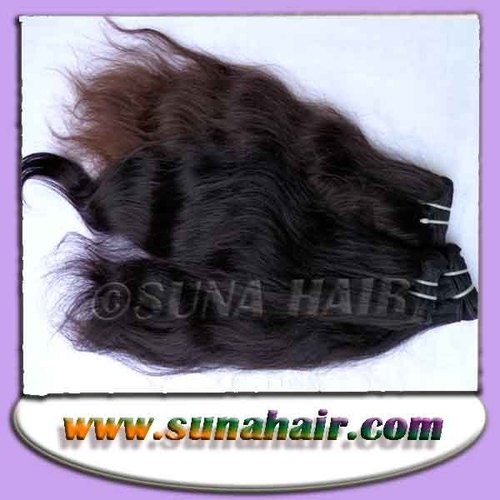 Silky curly stylist color machine weft beautiful human hair extension