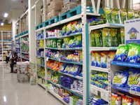 Single Sided Supermarket Display Rack