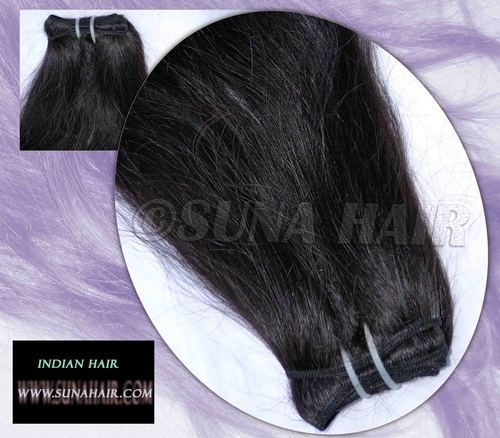 100% natural machine weft virgin silky curly remy human hair extension