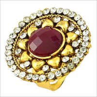 Gold Plated Ruby Stone Ring