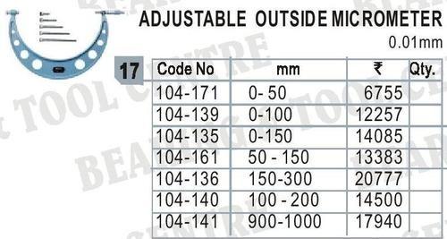 Adjustable Outside Micrometer ( Interchangeable )