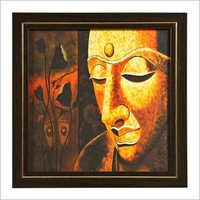 Element Serene Buddha Wood Painting