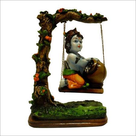 Earth Bal Krishna On Swing Showpiece