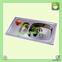 Stainless Steel Kitchen Sink with Vegetable Bowl