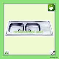 Stainless Steel Double Bowl Kitchen Sink with Drain