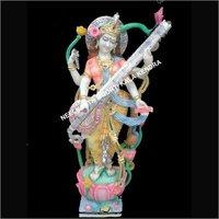 Marble Standing Saraswati murti