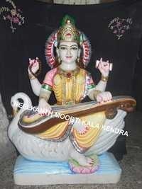 Beautiful Marble Saraswati Statue