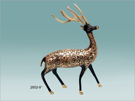 Handcrafted Swamp Deer Figurines