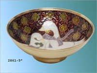 Printed Enameled Brass Bowls