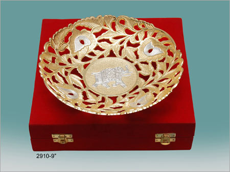 Gold Plated Dry Fruit Bowl