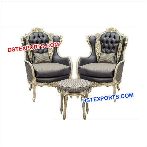 Wedding Silver Carved Sofa Set