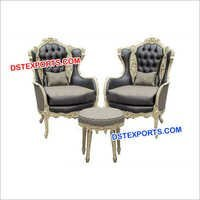Wedding Silver Carved Sofa Set