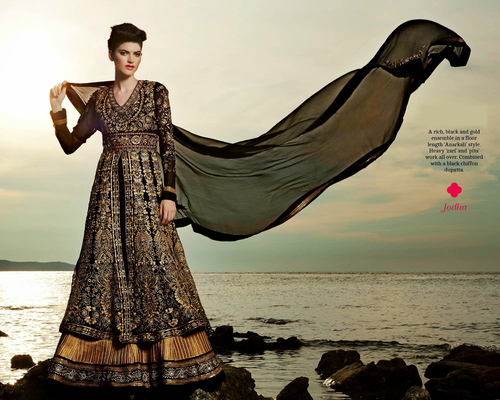 Pure Georgette Designer Jodha Dress