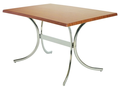 Stainless Steel Base Wooden Table