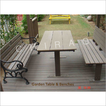 Garden Bench & Tables