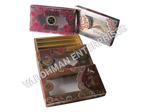 Metallic Folding Sweet Box