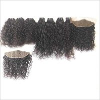 Temple Donated Raw Curly Human Hair