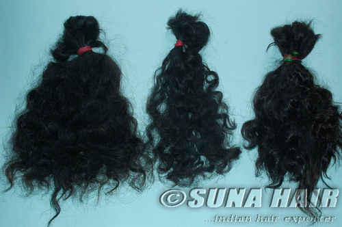 Curly machine weft natural impressive price human hair