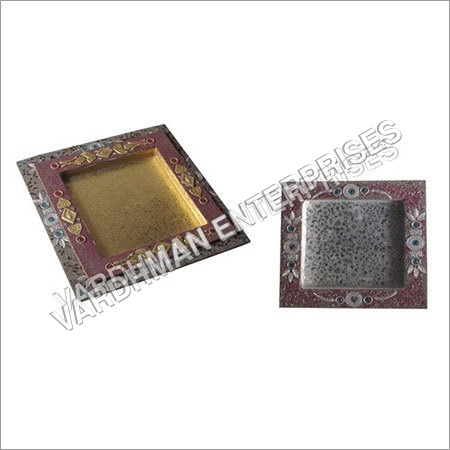 Square Shape Glitter Tray