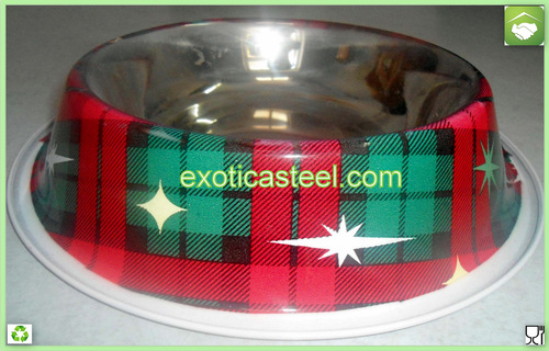 Stainless Steel Dog Bowl - Multi Print