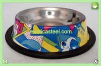 Anti Skid Dog Bowl - Multi Print