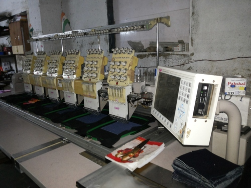 SMALL 6 HEAD EMBROIDERY MACHINE USED