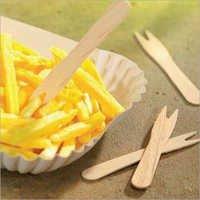 Wooden French Fry Fork