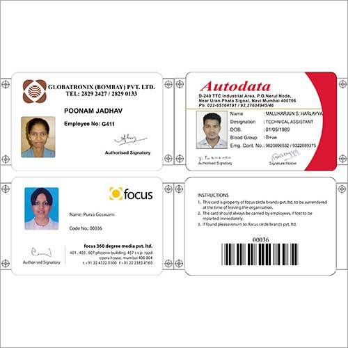 Horizontal Id Cards
