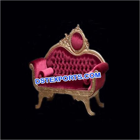 Golden Carved Pinkish Sofa