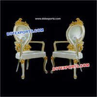 Designer Carved Leaf Chairs