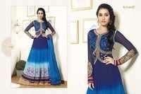 Designer blue salwar suit