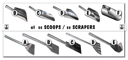 SS Scoops & Scrapers