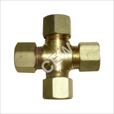 Brass Cross Joint