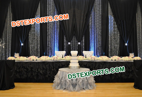 Wedding Black Crystal Backdrops
